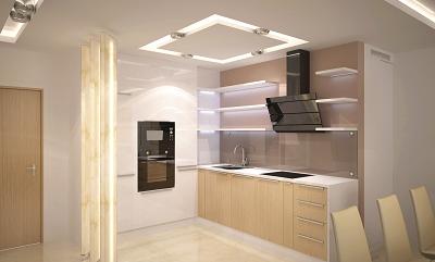 las casas modernas se iluminan con luces LED