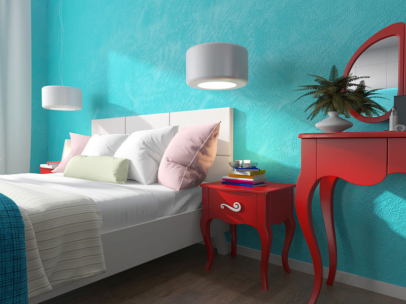 Consejos e ideas para decorar casas - Colores azules para paredes ...