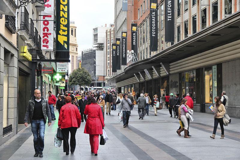 calles más comerciales