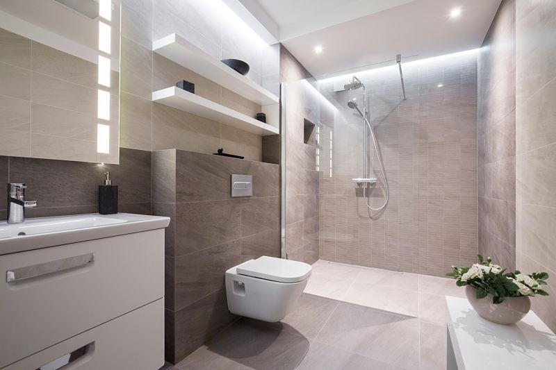 baños con ducha de obra