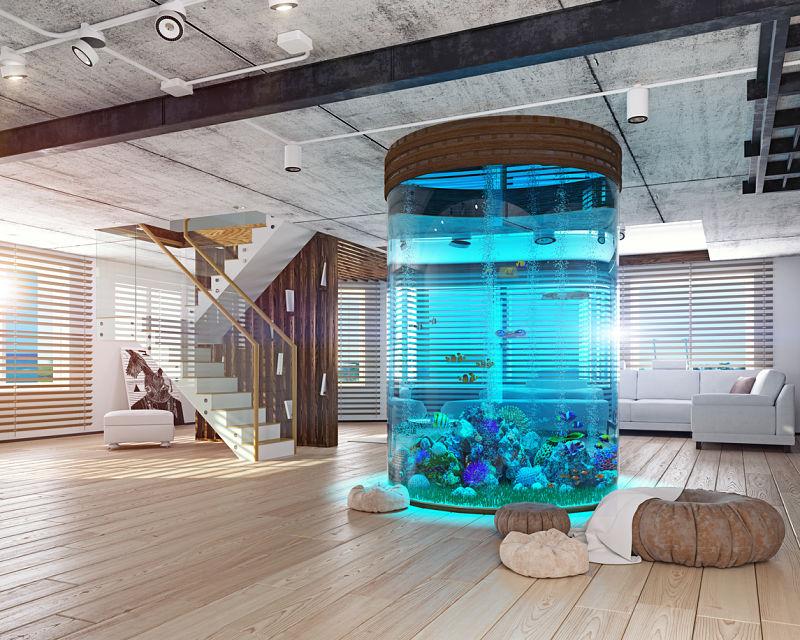 plantas artificiales acuarios