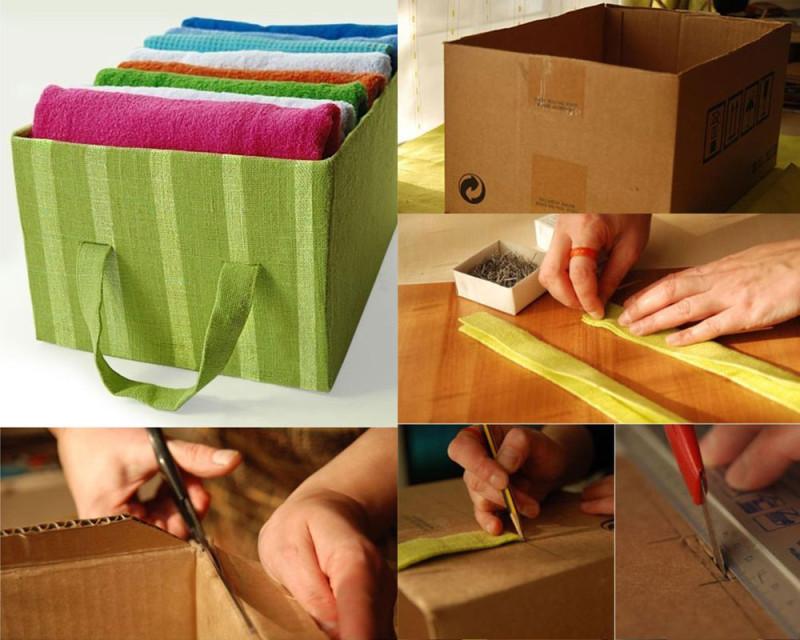 Decorar con cajas de cartón
