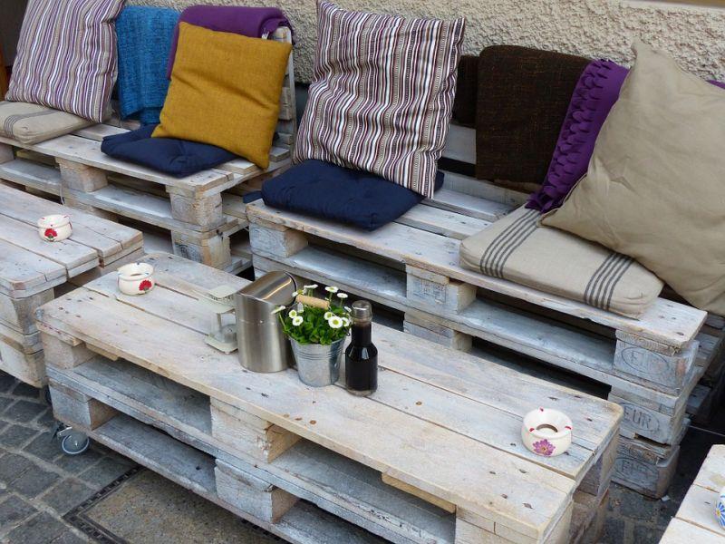 Muebles con elementos reciclados