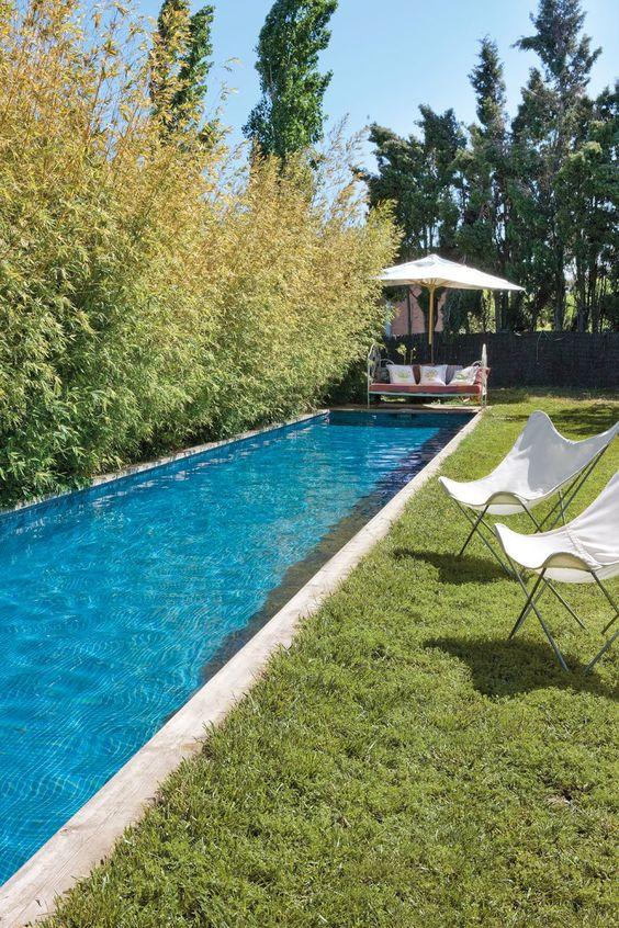 Tipos de piscinas para casas su ubicacin depende de las for Piscinas alargadas