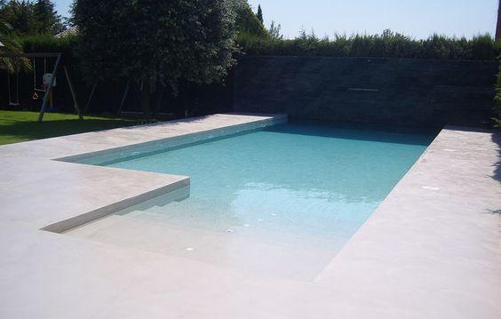 El look cemento irrumpe en el dormitorio yaencontre - Microcemento para piscinas ...